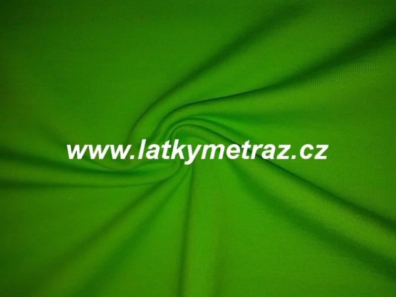 teplákovina-zelená-zbytek 45 cm