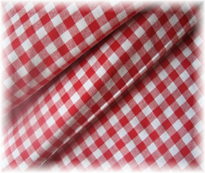kanafas-červený 1 x 1 cm-zbytek 90 cm