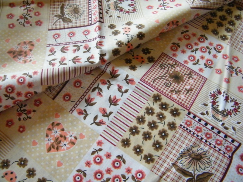 béžový patchwork-zbytek 1,20