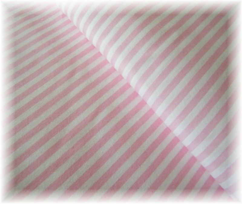 růžovo-bílý proužek-zbytek 35 cm