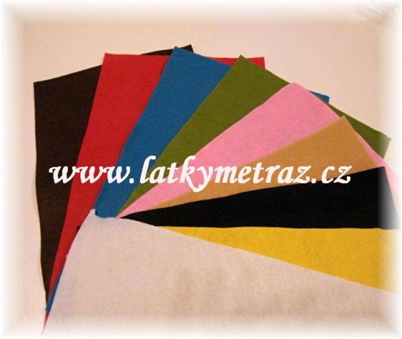 balíček dekorativních plstí 9 druhů