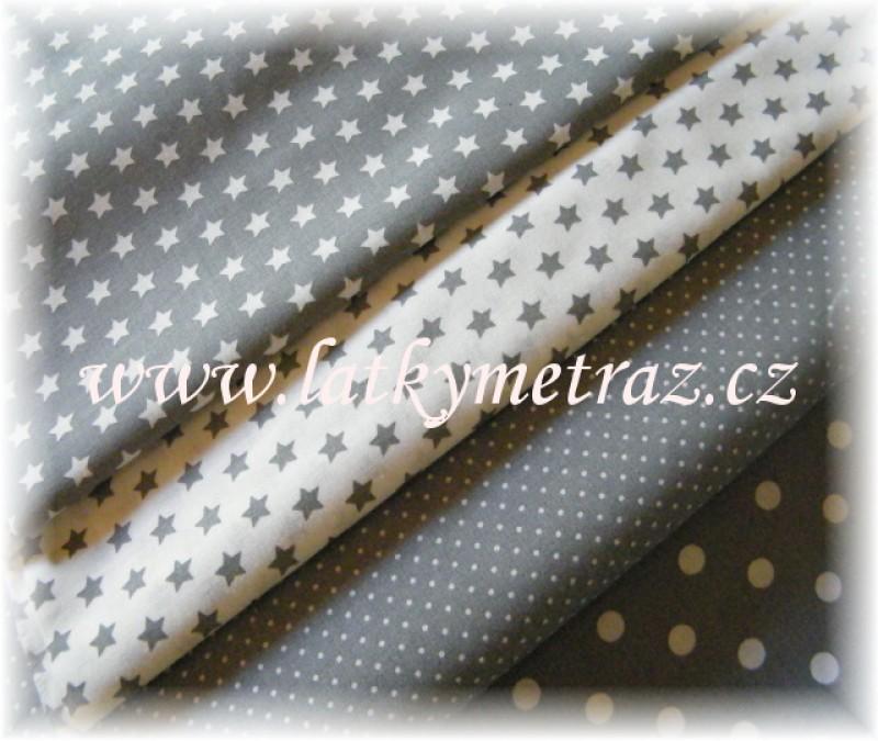 šedo-bílý balíček-4 x 50 cm