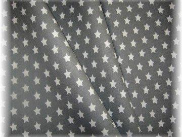 bílé hvězdičky na šedém