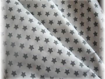 šedé hvězdičky na bílém