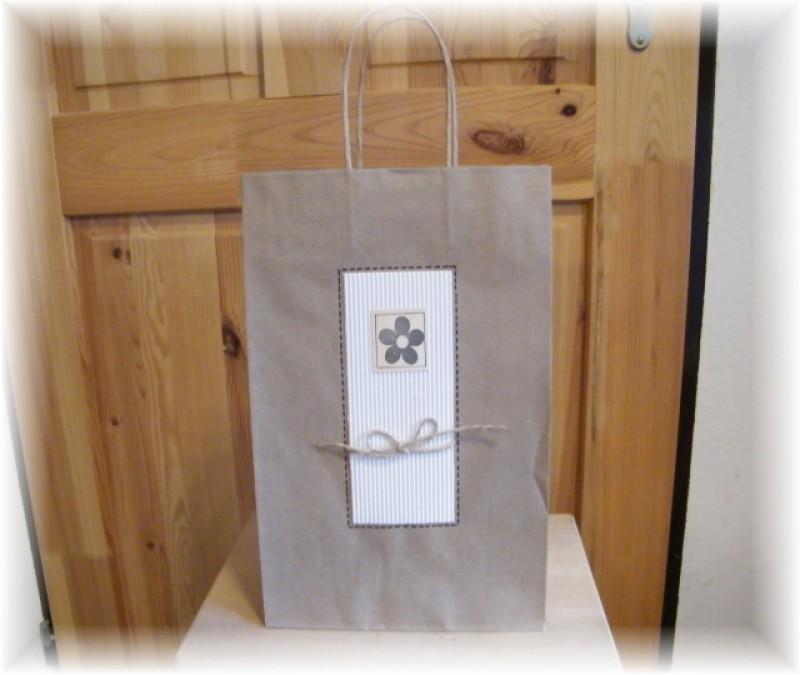 Dárková taška-přírodní velká