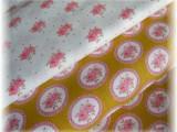 balíček látek pro patchwork-oválky + růže 2 x 50 cm