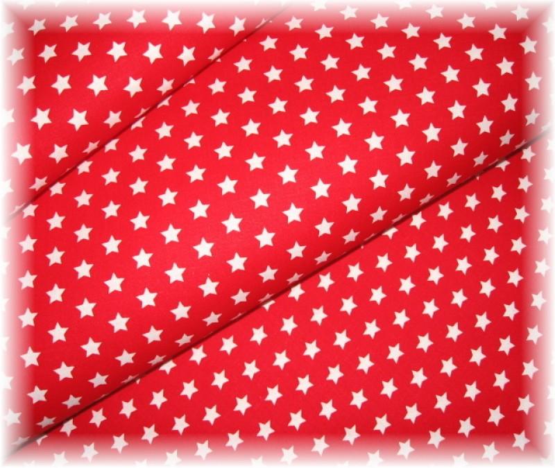 bílé hvězdičky na červeném