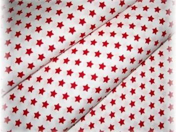 červené hvězdičky na bílém