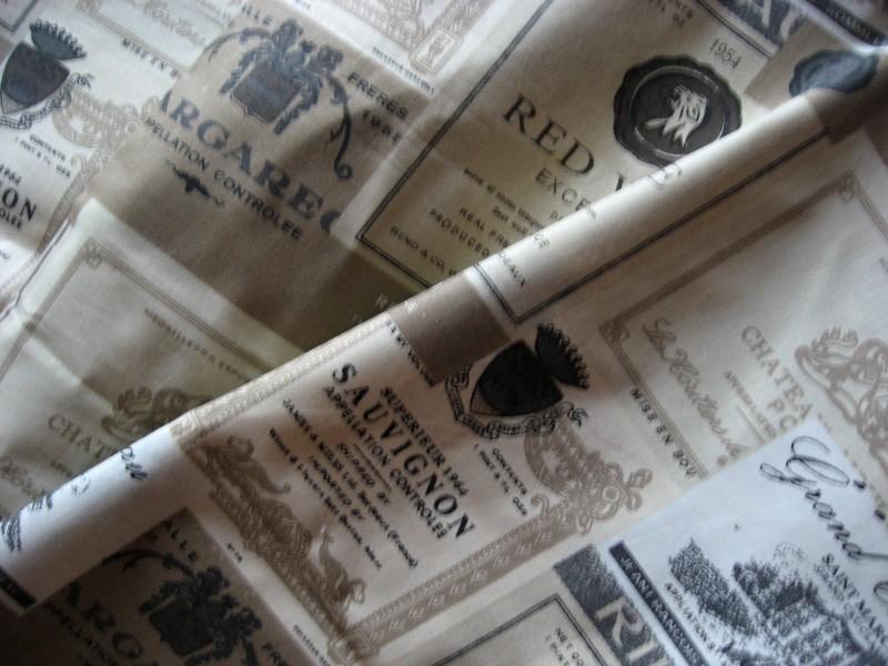 béžové etikety-zbytek 43 cm