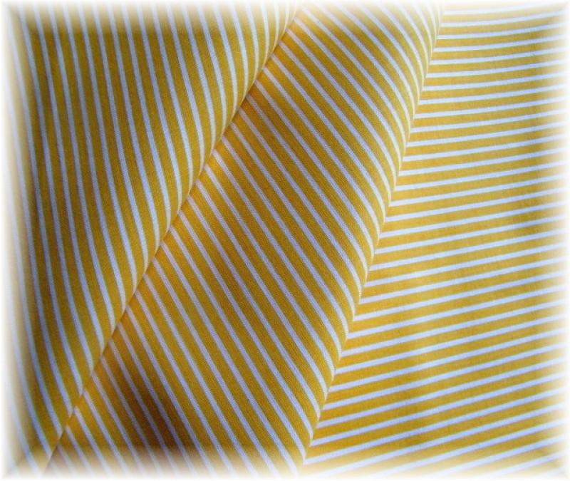 žlutý proužek-zbytek 48 cm