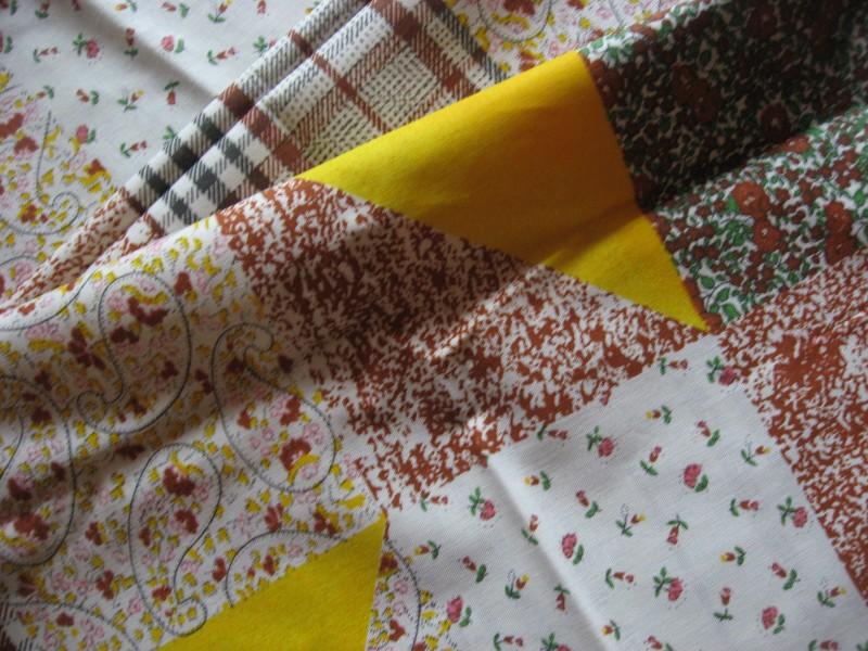 hnědožlutý vzor-zbytek 40 cm