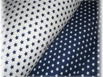 tmavě modré hvězdičky na bílém