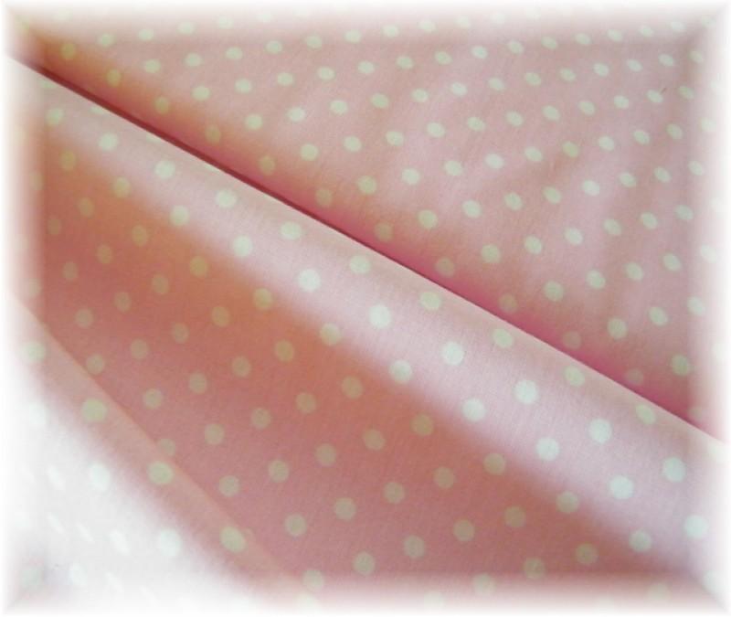 puntík na růžové-průměr 5 mm-zbytek 50 cm