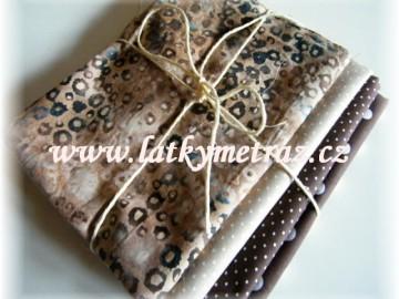 béžovo-hnědý balíček-4 x 30 cm