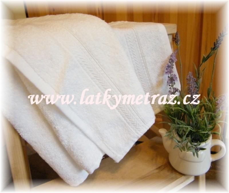bílé ručníky 50 x 100 cm