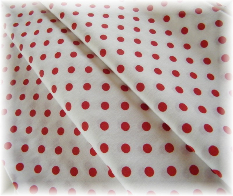 červený puntík na bílém-8 mm