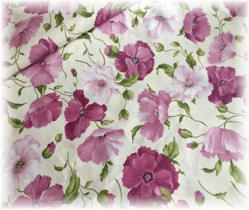 lila větší kytky