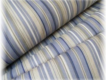 80% bavlna + 20% pes-modrý pruh