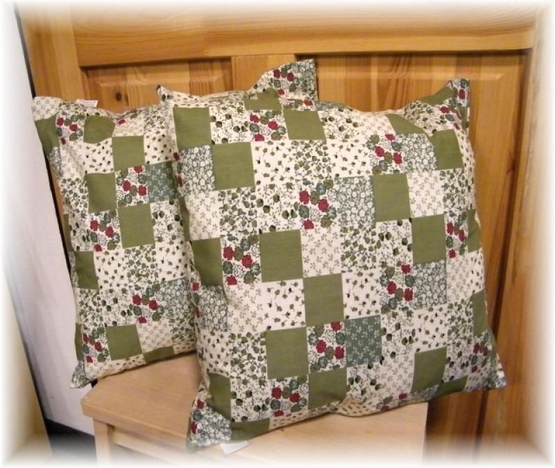 polštář-patchwork zelený