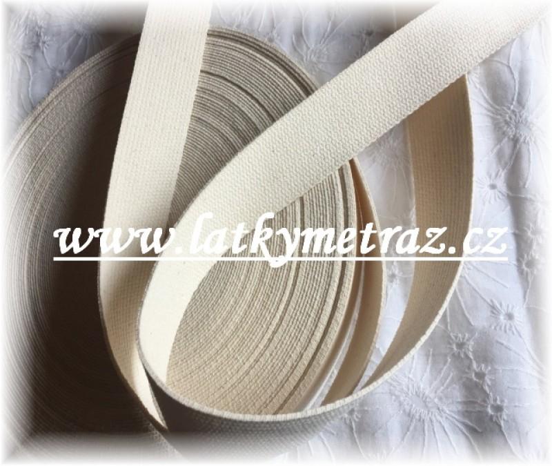 bavlněný popruh přírodní-šíře 30 mm