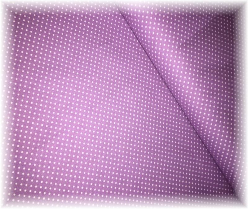 levandulová kolekce-lila puntík