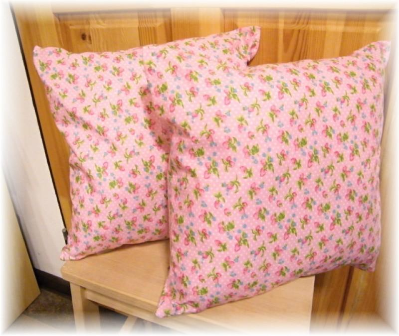 polštář-jahůdky růžové