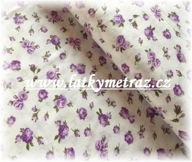 drobné růžičky-lila