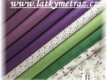 levandulová kolekce-fialový puntík
