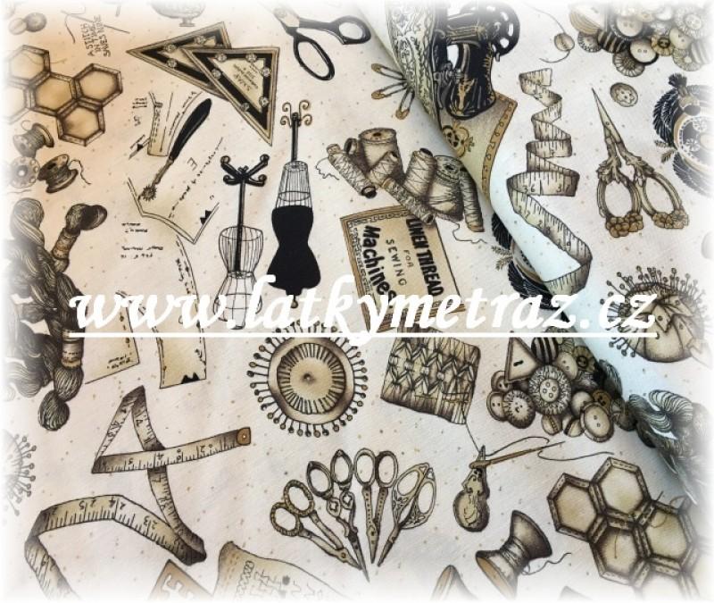 stof nůžky-55 x 55 cm