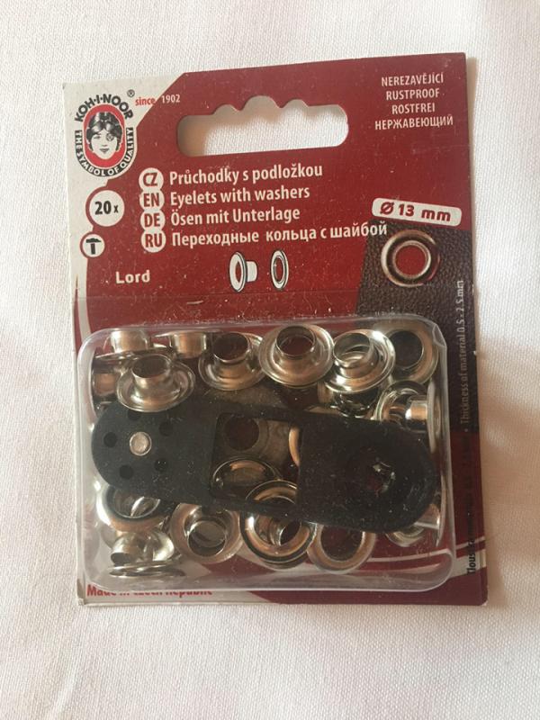 průchodky kovové lord 7 mm