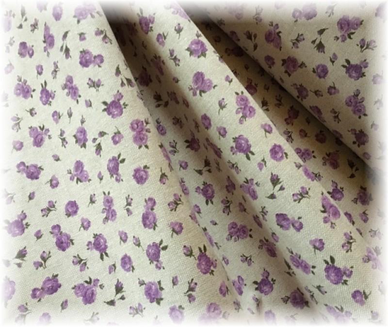 pevná látka-drobné kyti lila