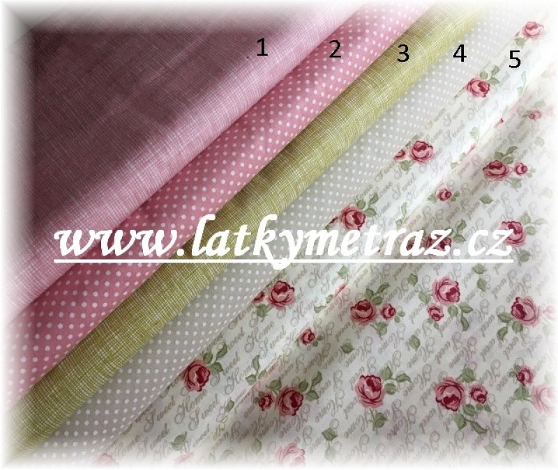 nová kolekce-růžová jednobarevná č.1-zbytek 40 cm