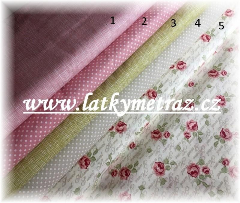nová kolekce-růžové puntíčky č.2-zbytek 43 cm