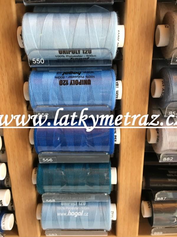 unipoly 500 m-královsky modré nitě č.556