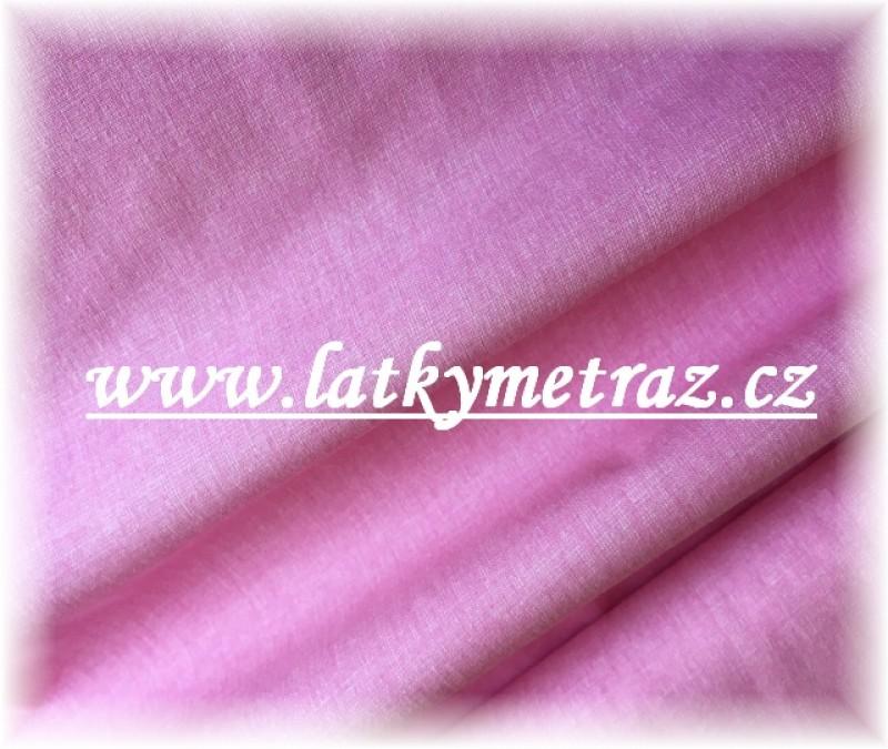 lněná půda-růžová  jednobarevná