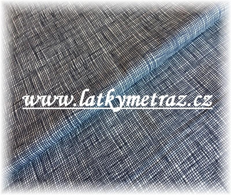 jednobarevná žíhaná tmavě modrá