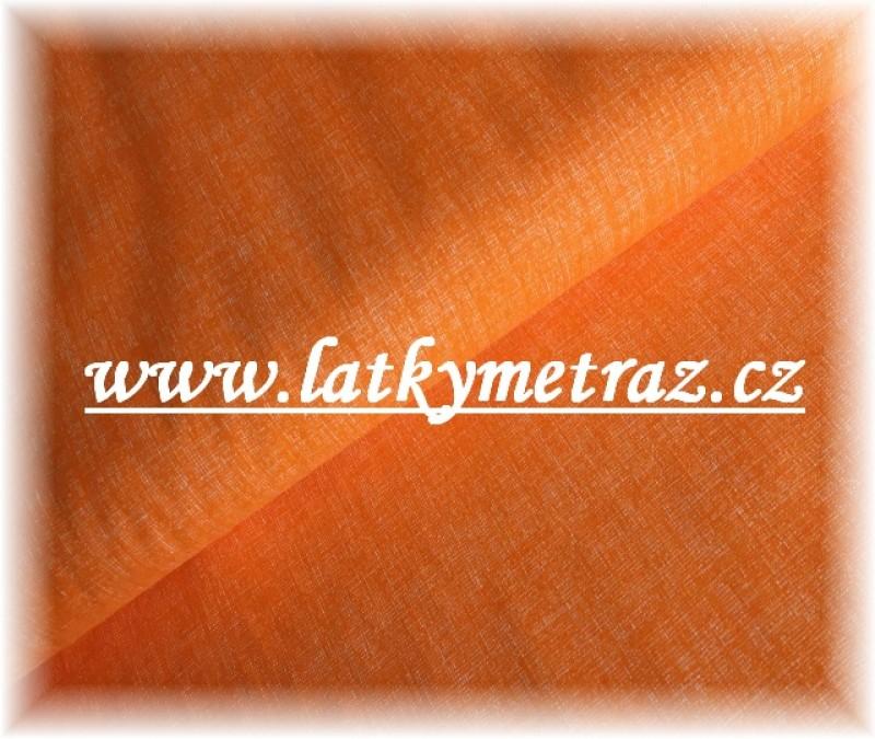 lněná půda-oranžová jednobarevná