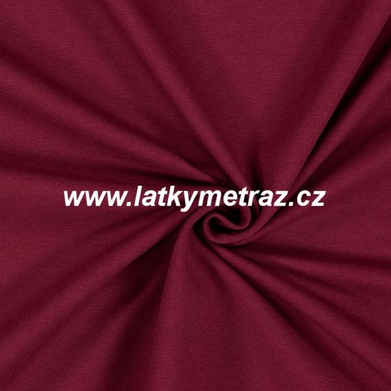 teplákovina-bordo-zbytek 55 cm
