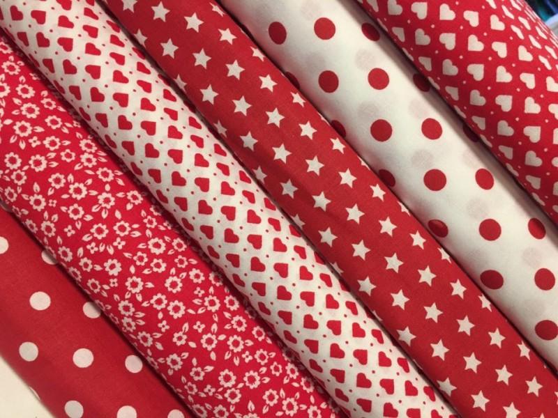 nový balíček červený  6 x 50 cm
