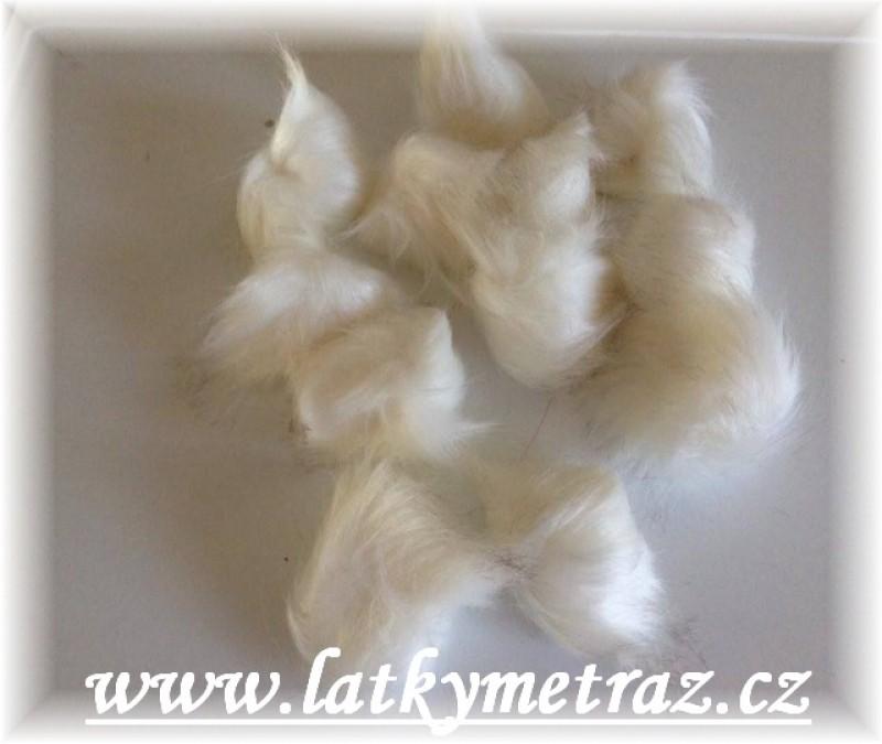 bambule kožešinová-bílá