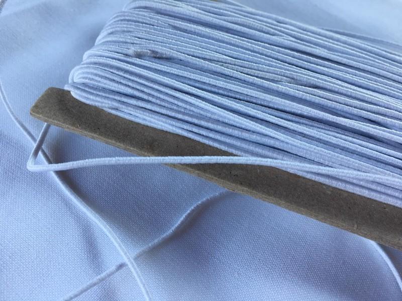 klobouková guma 1,4 mm-bílá