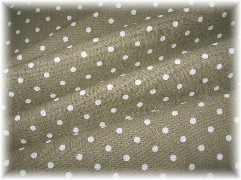 khaki puntík-zbytek 1 m