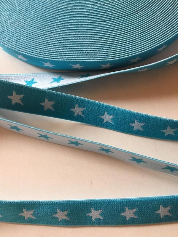 pruženka hvězdy 20 mm-tyrkys