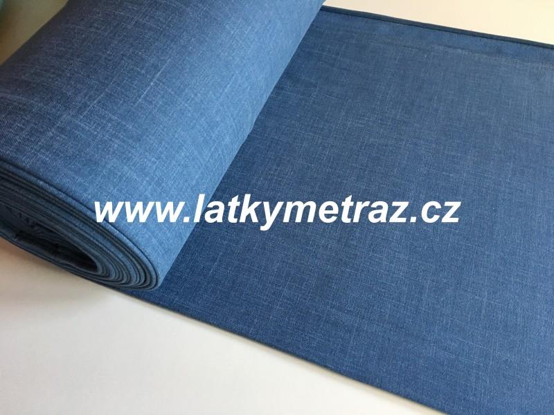 teplákovina-jeans modrá