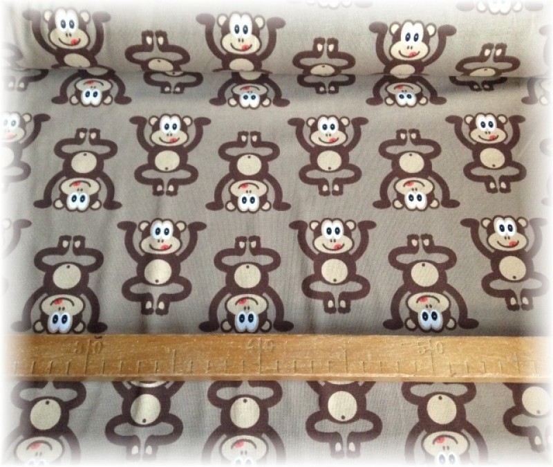 Jersey úplet-opice na hnědém