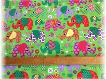 Jersey úplet-sloni na zeleném