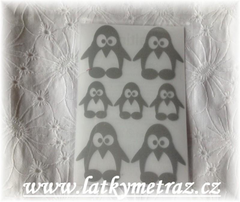 reflexní nažehlovačky-tučňáci