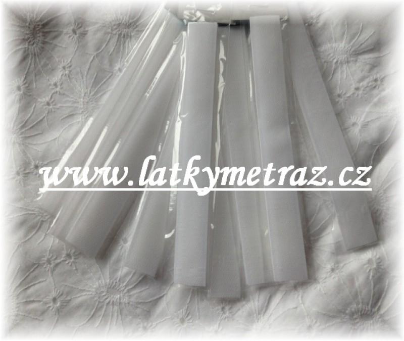 suchý zip bílý