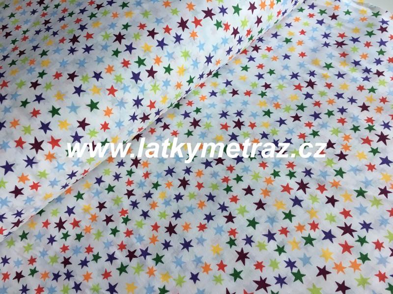 barevné hvězdičky-zbytek 70 cm