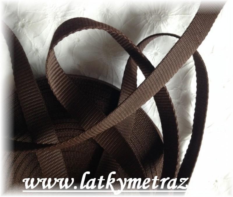 popruh tmavě hnědý šíře 25 mm